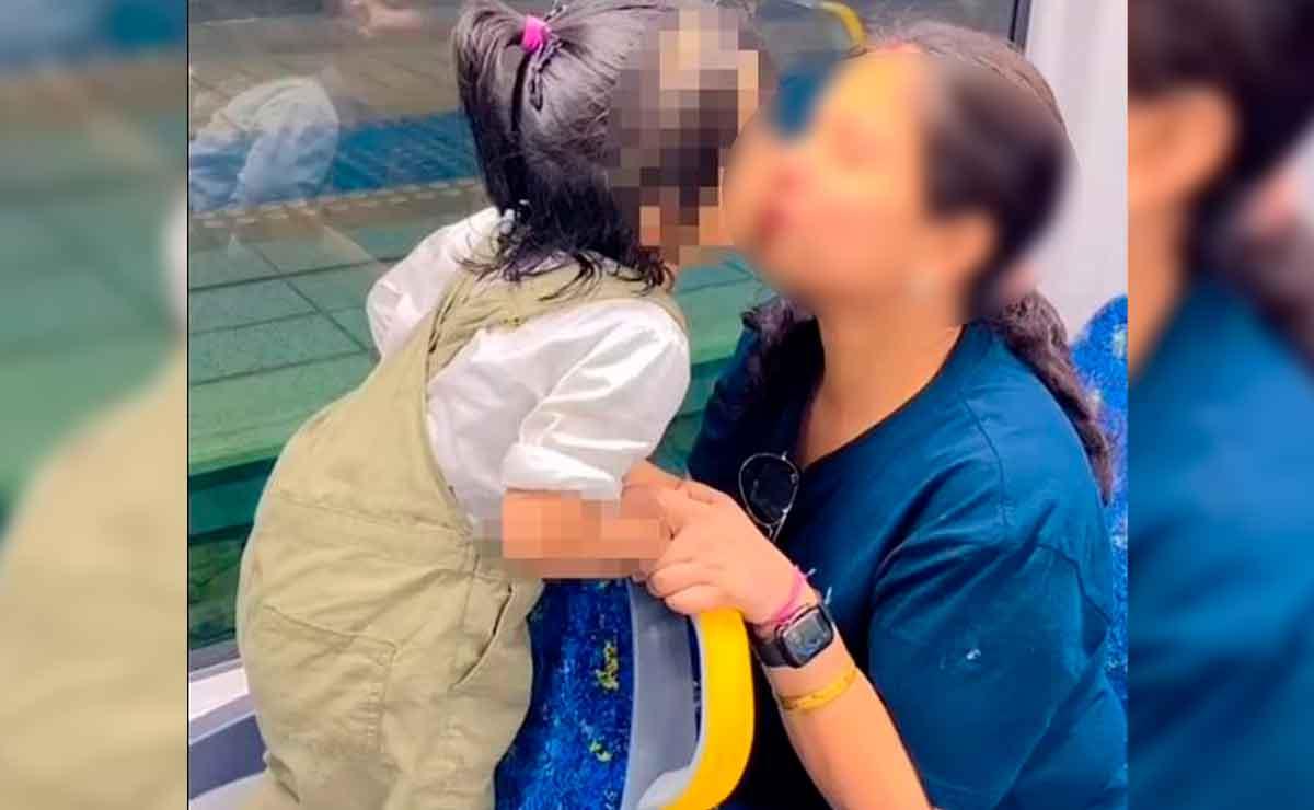 Mujer se vuelve viral por besar a su hija.