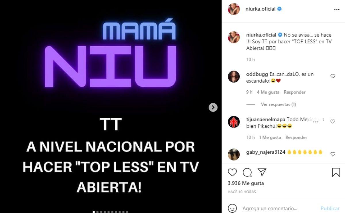 Niurka se ueda en topless en entrevista del programa De Primera Mano, Los quiero mucho, quiero decirles que vengan a Zipolite, esta es una cosa maravillosa