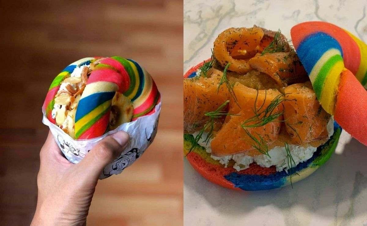 Rainbow Bagels ha reinventado los tradicionales bagels de jamón y queso para crear nuevos sabores como mermelada de vino blanco.