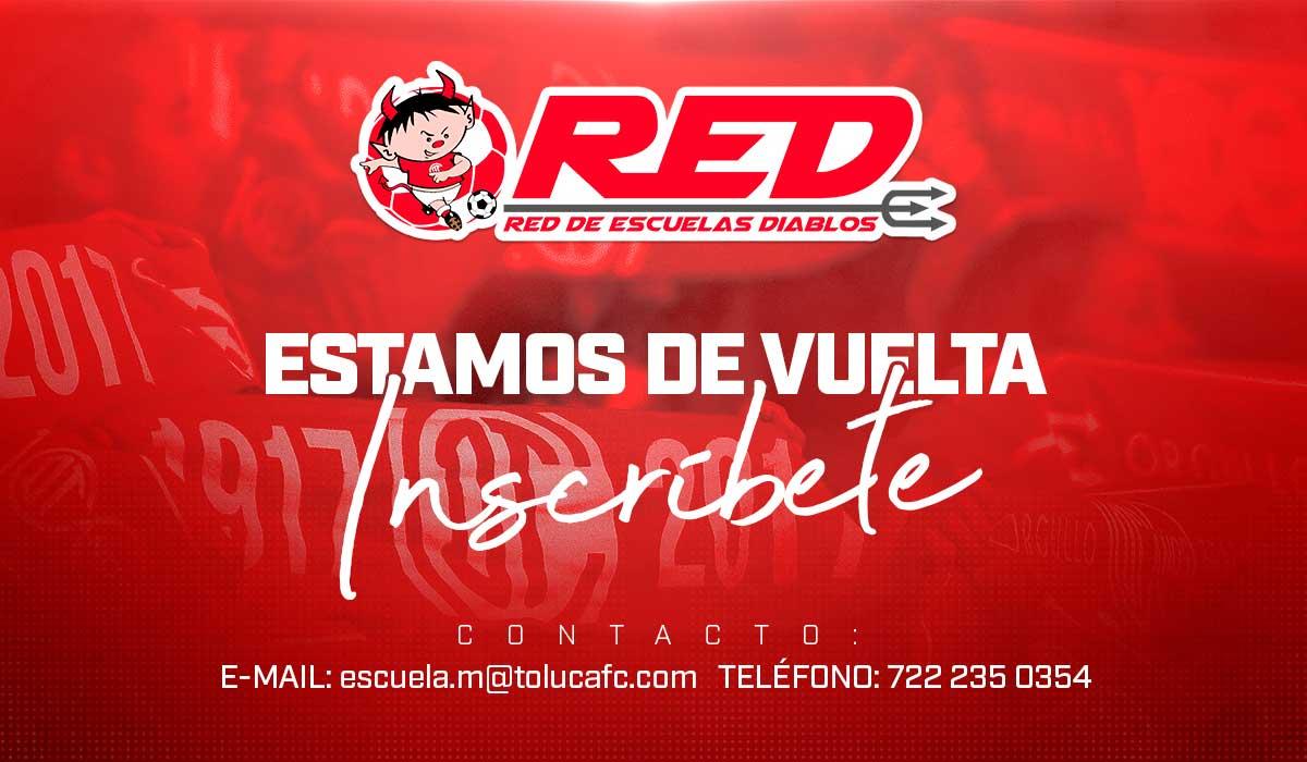 El deportivo Toluca informo que sus escuelas volveran a tener actividades para recibir jugadores