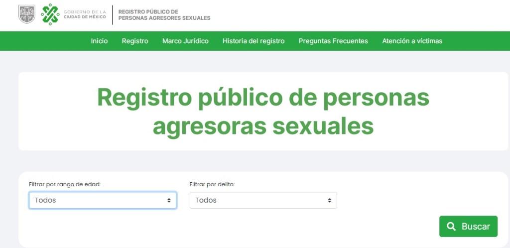 REGISTRO AGRESORES SEXUALES DE CDMX