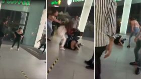 Se registra pelea entre jóvenes a las afueras de Pabellón Metepec