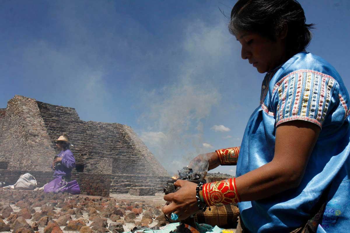 La zona arqueologica de Calixtlahuaca es una de las más visitadas detrás de Teotihuacán
