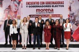 Gobernadores electos de Morena firman carta compromiso de no mentir, no robar