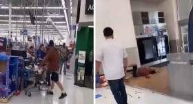 empleado Walmart encara a cliente y lo deja en el piso