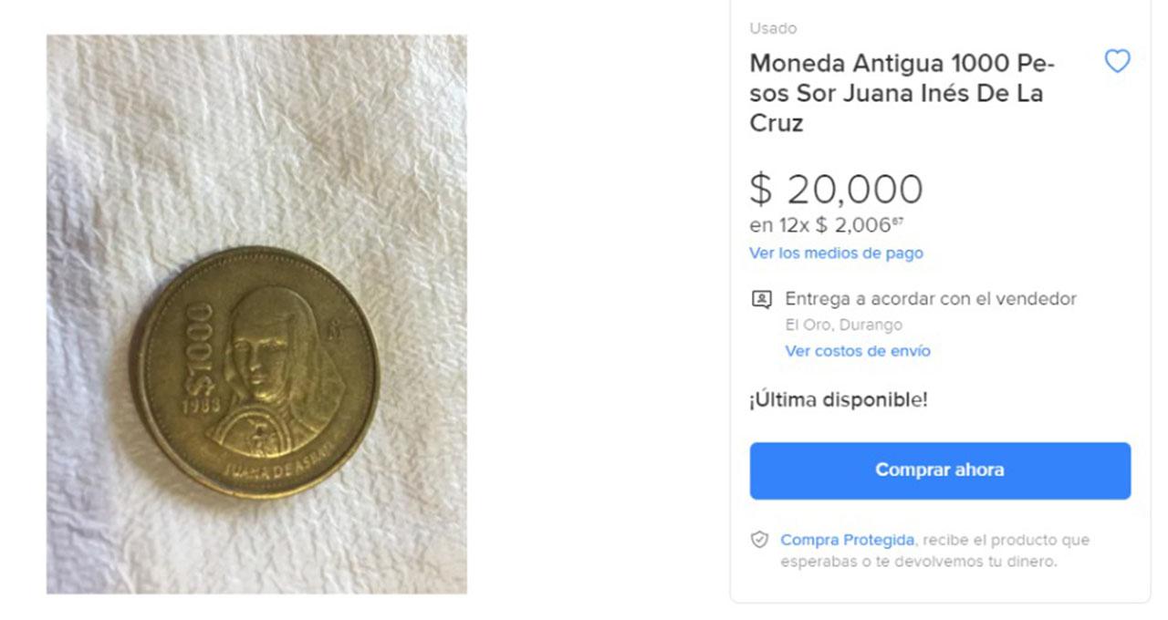 Moneda Antigua valuada hasta en 20 mil pesos
