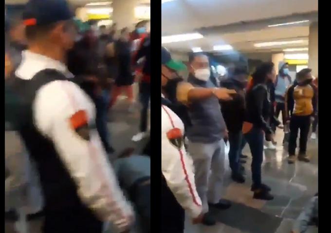 En la CDMX un policía golpea a un usuario y lo deja incosciente
