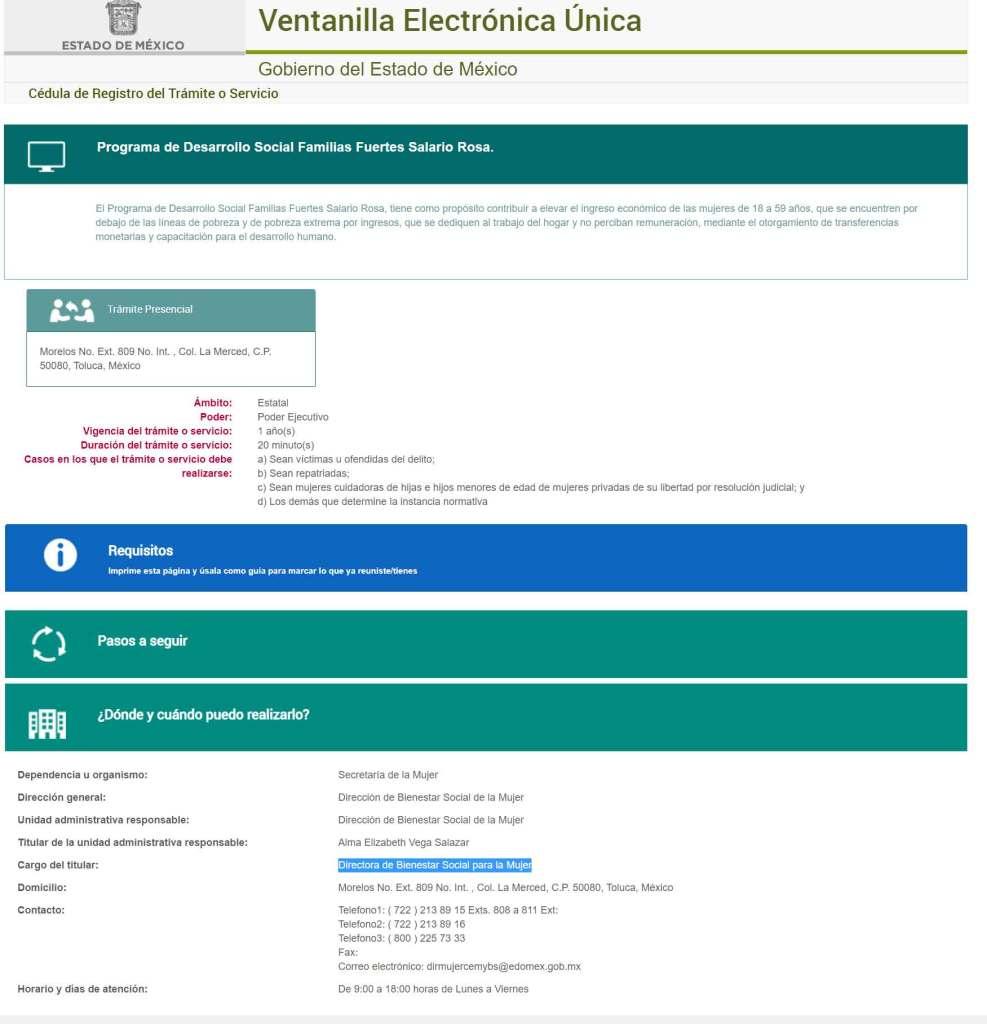 incongurencias de información en portales oficiales del edomex