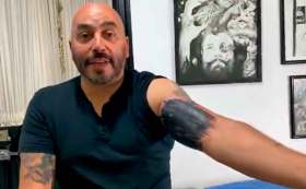¡Adiós tatuaje de Belinda! Lupillo Rivera se lo tapa.