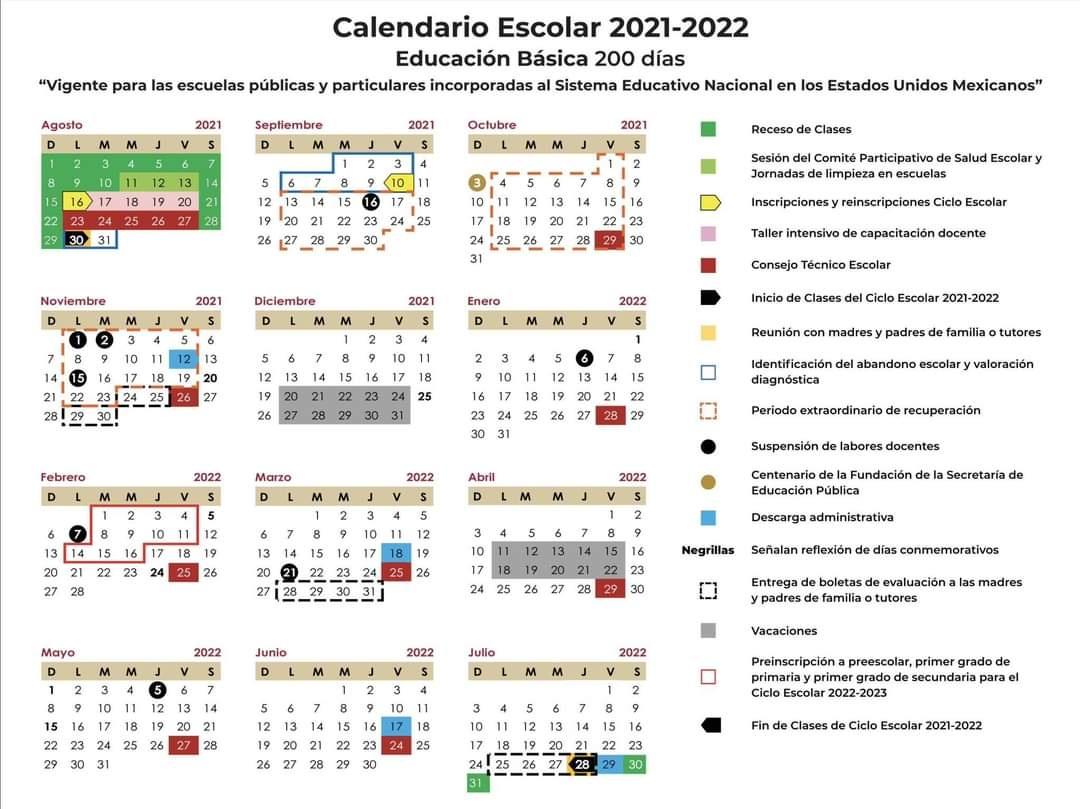 Calendario SEP 2021- 2022: Fechas de inscripciones y reinscripciones oficiales