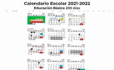 Calendario SEP ciclo escolar 2021- 2022