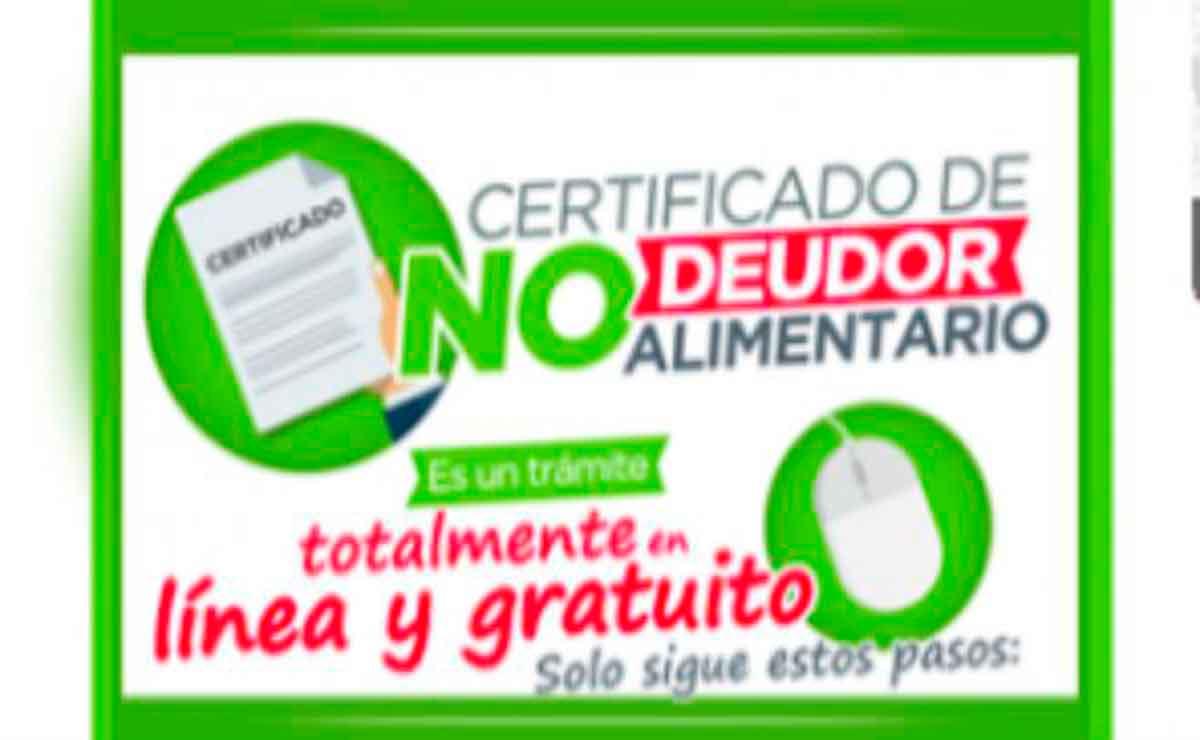 Cómo obtener certificado no deudor alimentario Edomex.