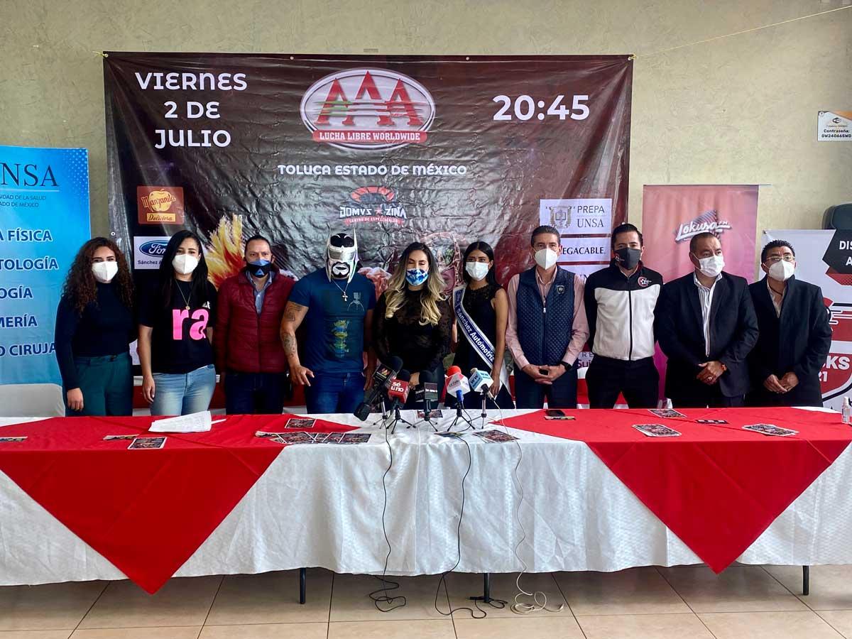 Lucha Libre AAA regresa a suelo mexiquense en Zinacantepec