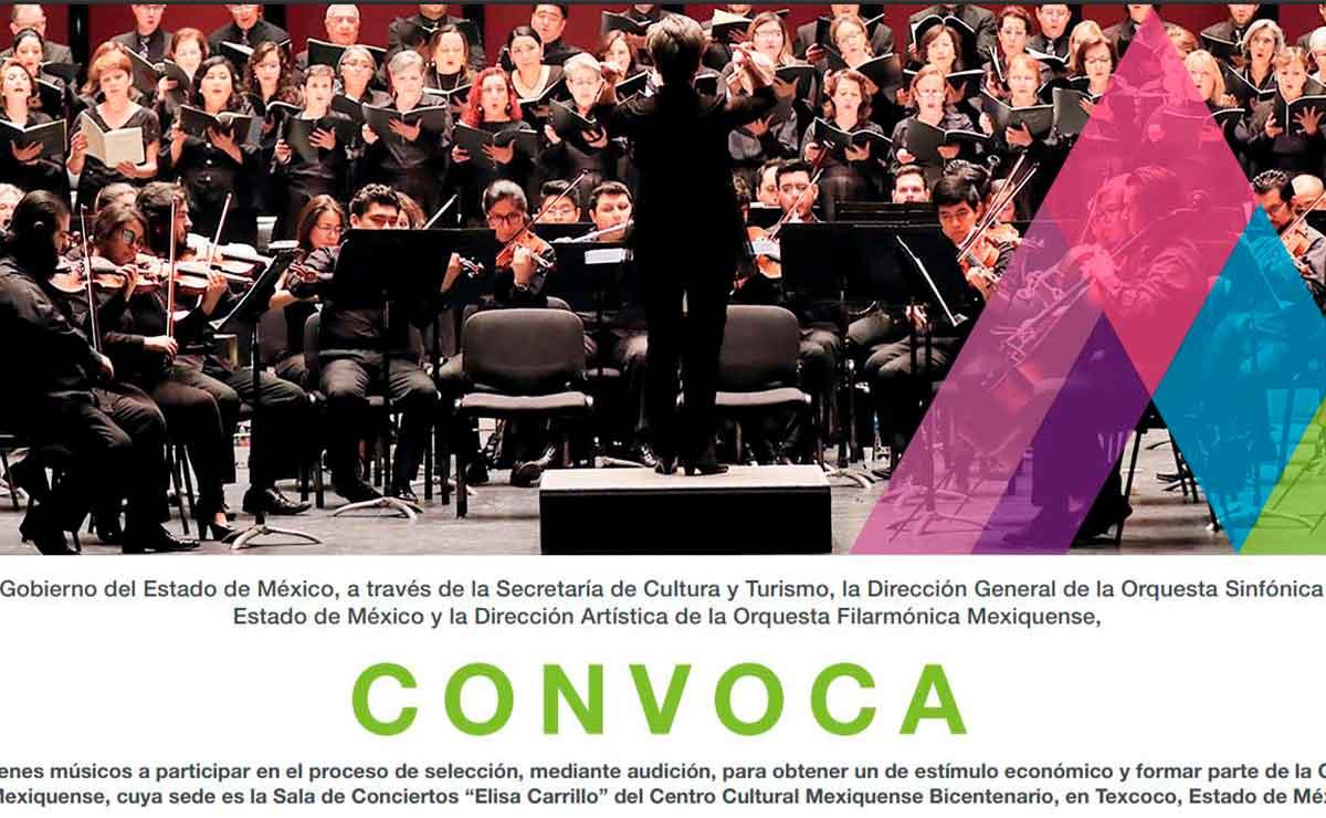 Convocatoria de Orquesta sinfónica del Estado de México.