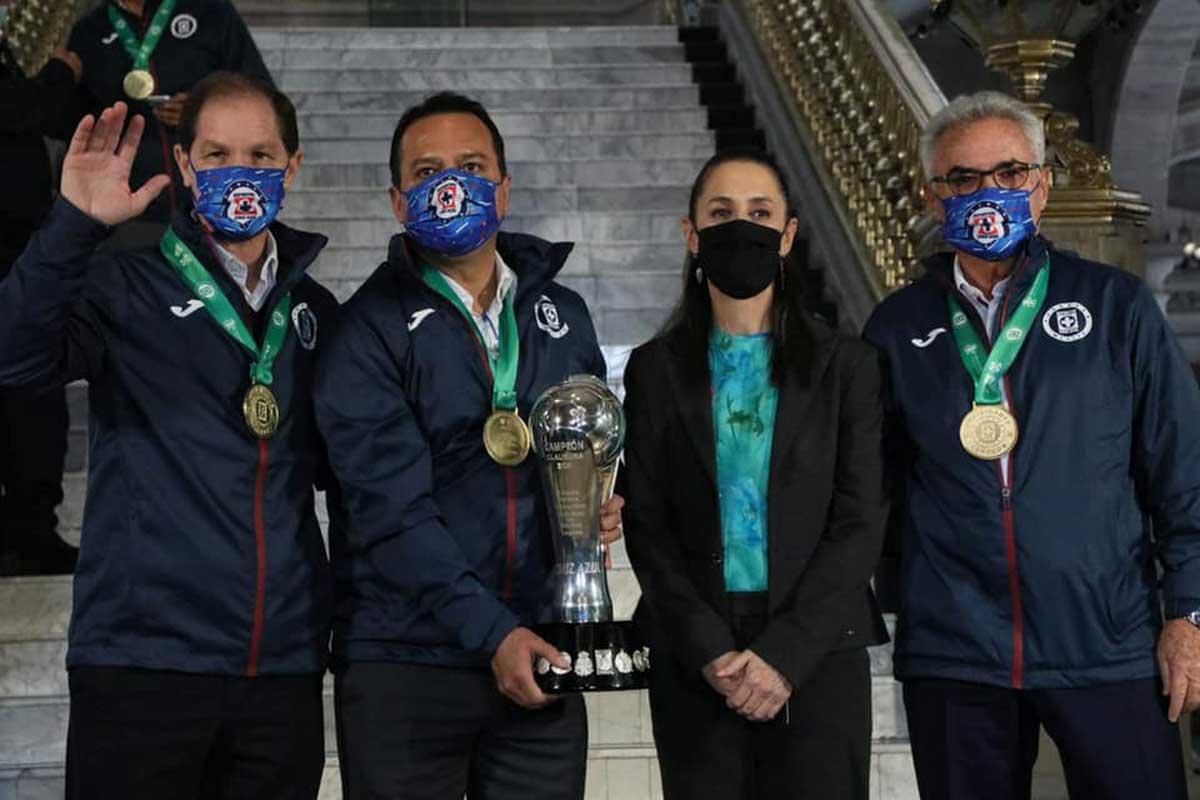 Claudia Sheinbaum recibió al campeón de la Liga MX