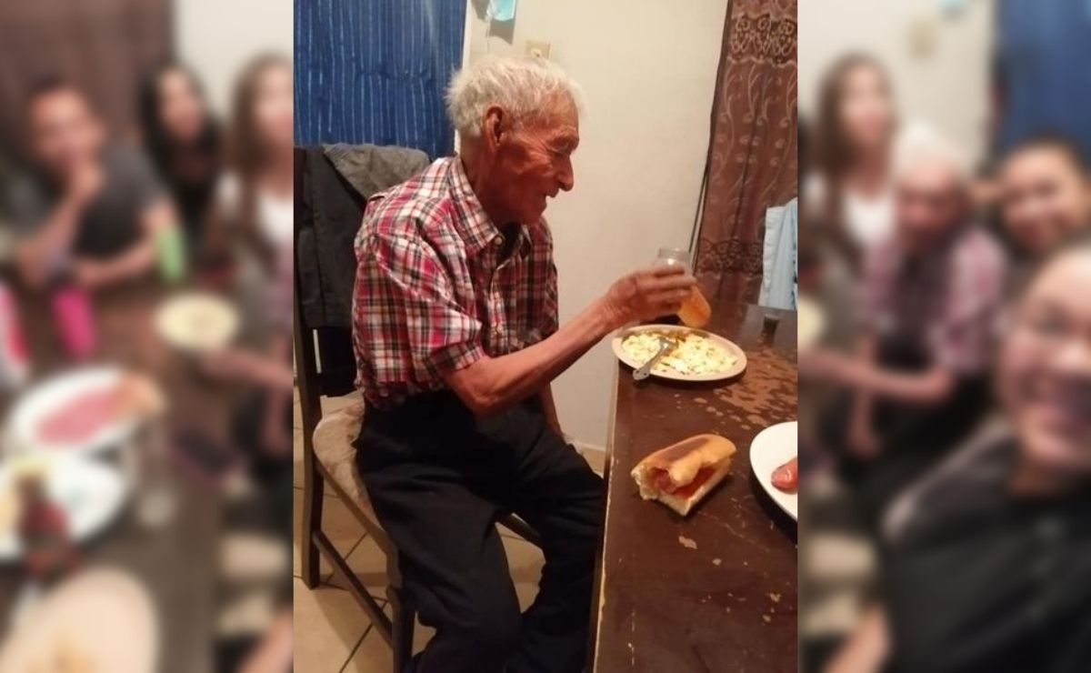 Fue a través de Facebook que una usuaria narró la historia de Don Felipe, un adulto mayor de 108 años de edad abandonado por su familia.