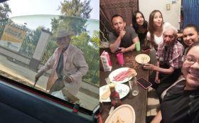 Familia se hace viral por adoptar a un abuelito en situación de calle