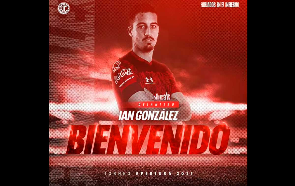 Toluca FC presentó a Ian González como su nuevo goleador