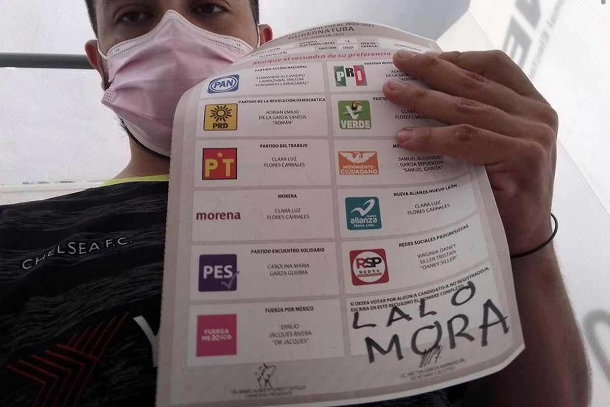 Lalo Mora se hace viral por recibir un voto para gobernador y el mismo lo presume