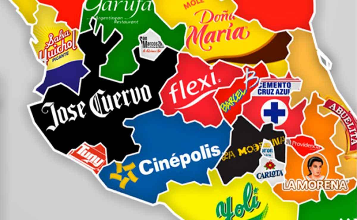 Marcas famosas por cada estado.