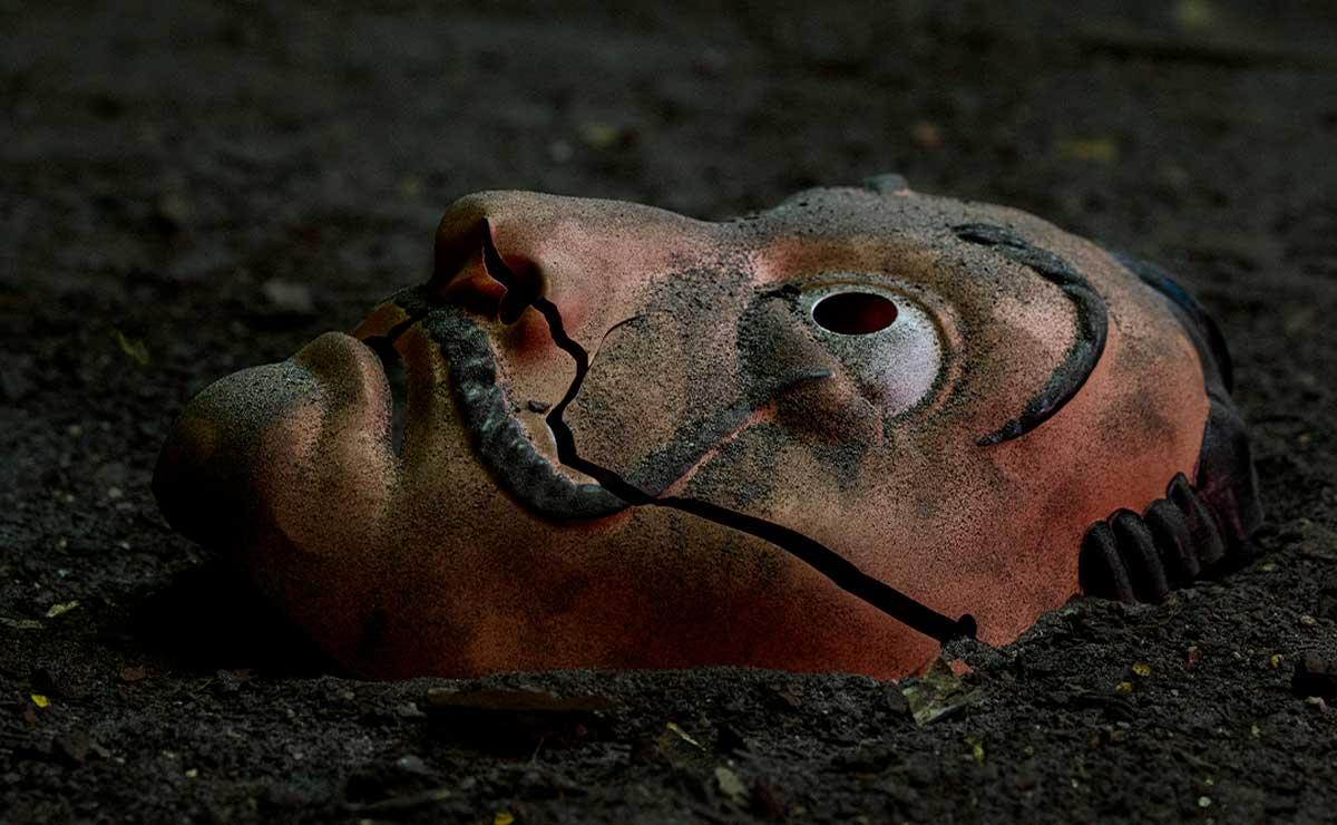 Mascara icónica de la serie la casa de papel la cual se transmite por Netflix
