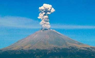 Podría nacer un nuevo volcán en México. Imagen del Volcán Popocatepelt.