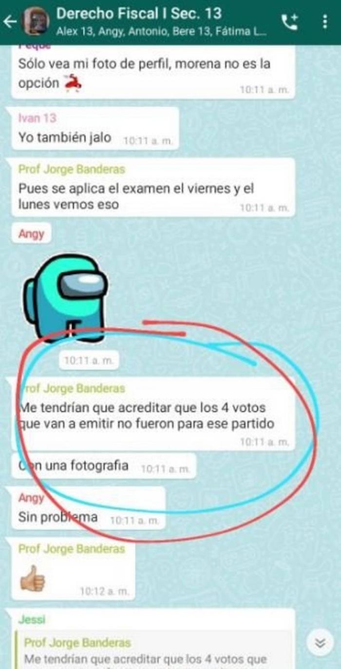 """Profesor promete """"10"""" a sus alumnos a cambio de no votar por Morena"""