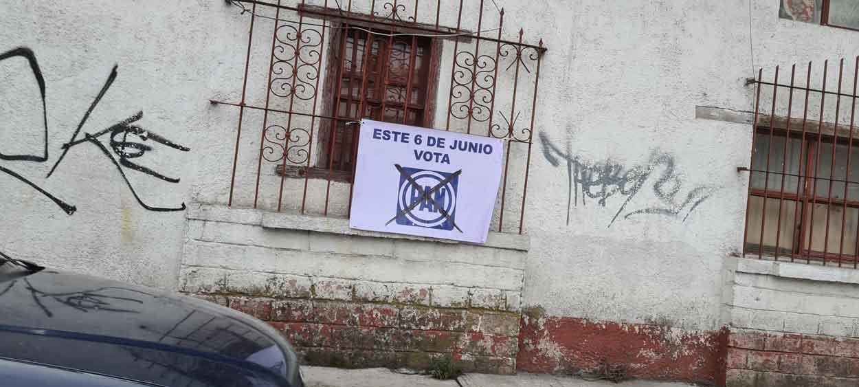 Propaganda sin autorización por parte del Partido Acción Nacional en Toluca