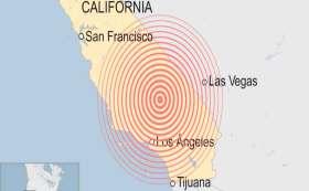 Se registra fuerte sismo en California.
