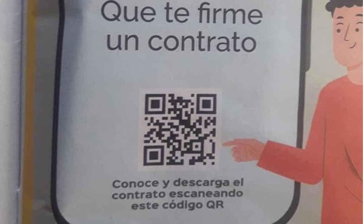 Código QR para descargar contrato para niños que quieran usar el celular.