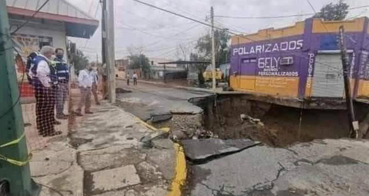 Un socavón nuevo se forma en Tamaulipas, Nuevo Laredo