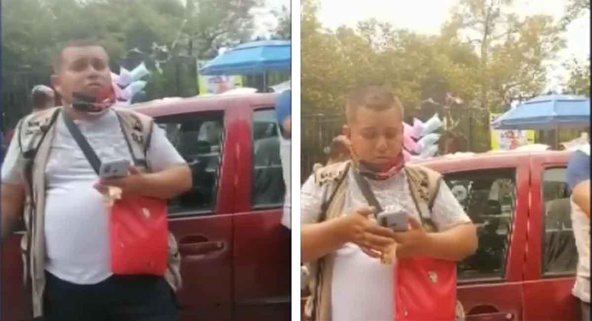 Bosque de Chapultepec – Franelero levanta la voz y exige 150 pesos de propina