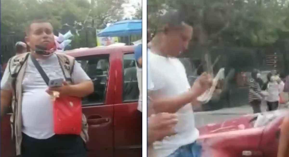 bosque de chapultepec un franelero abusivo pretende cobrar 150 pesos