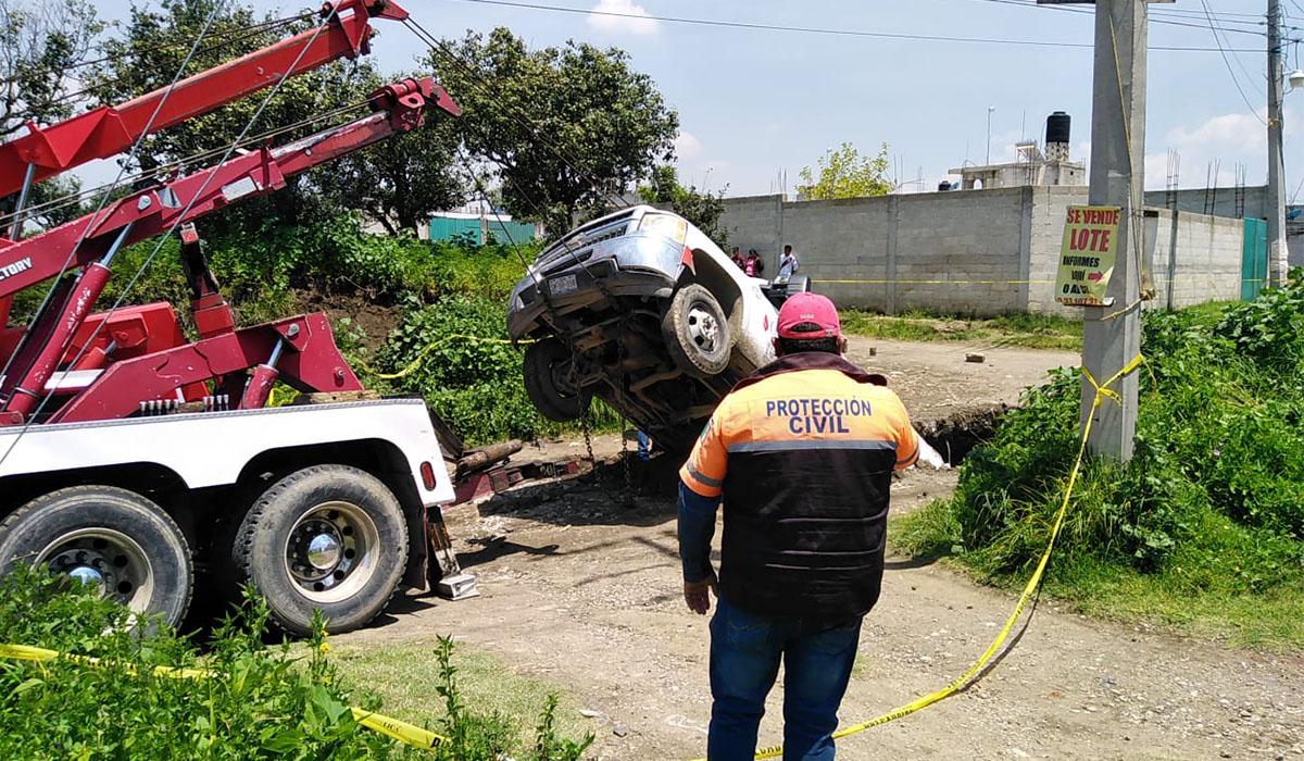 Socavón en Puebla: surge uno nuevo y se llevó una pipa de gas LP