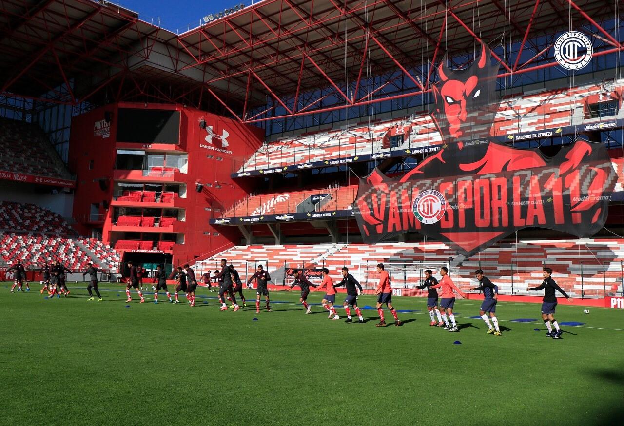 Toluca FC anuncia el porcentaje de aficionados que ingresarán al infierno