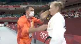 judoca alemana es cacheteada y zangoloteada en juegos olimpicos tokio 2021