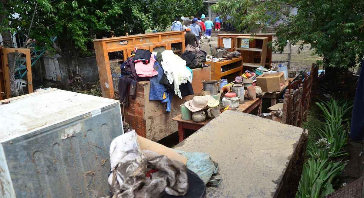 zinacantepec noticias, afectaciones del desbordamiento del río