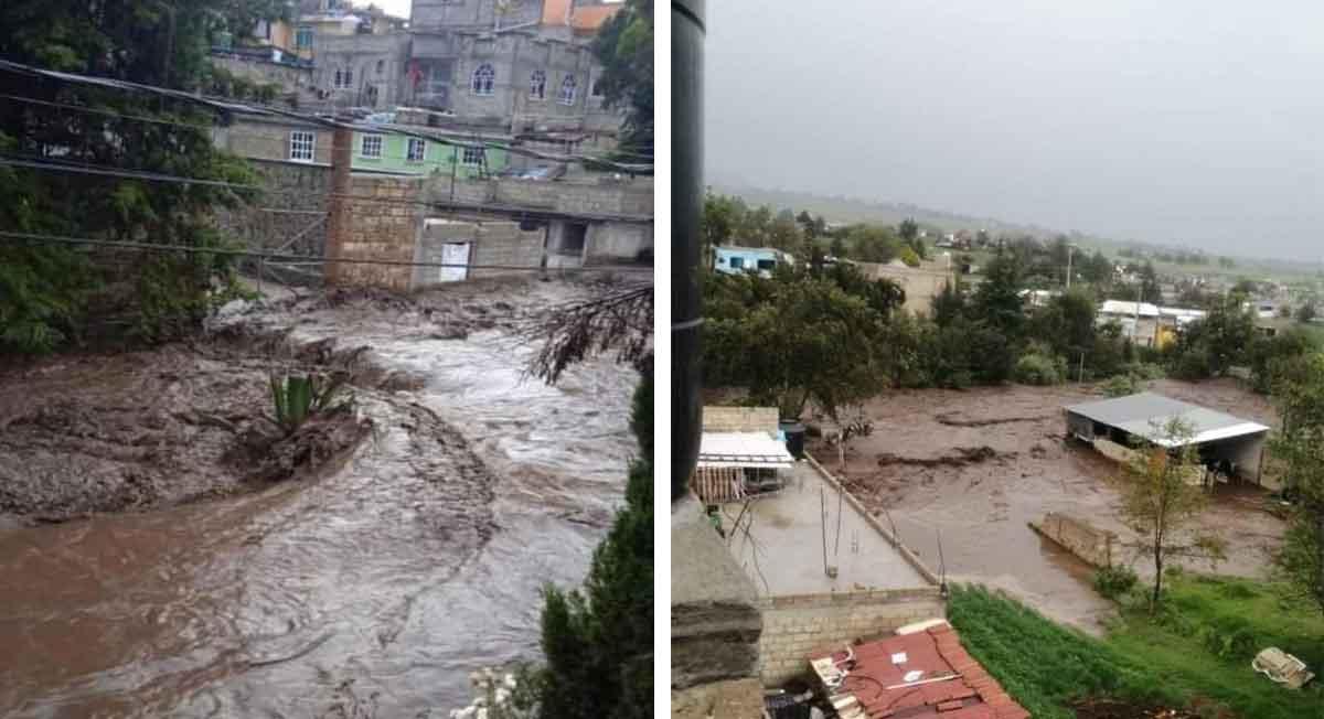 Zinacantepec noticias – Videos del desbordamiento del río y afectaciones