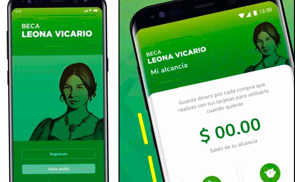 Si recibes la Beca Leona Vicario descarga la app para tramitar tu apoyo mensual de 800 pesos.