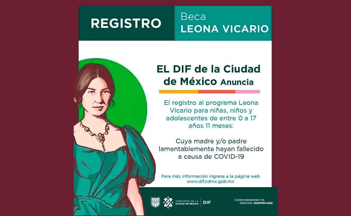 Beca Leona Vicario descarga la app para tramitar tu apoyo de 800 pesos.
