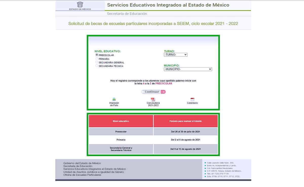 Registro paso a paso para la beca SEIEM para preescolar Edomex.