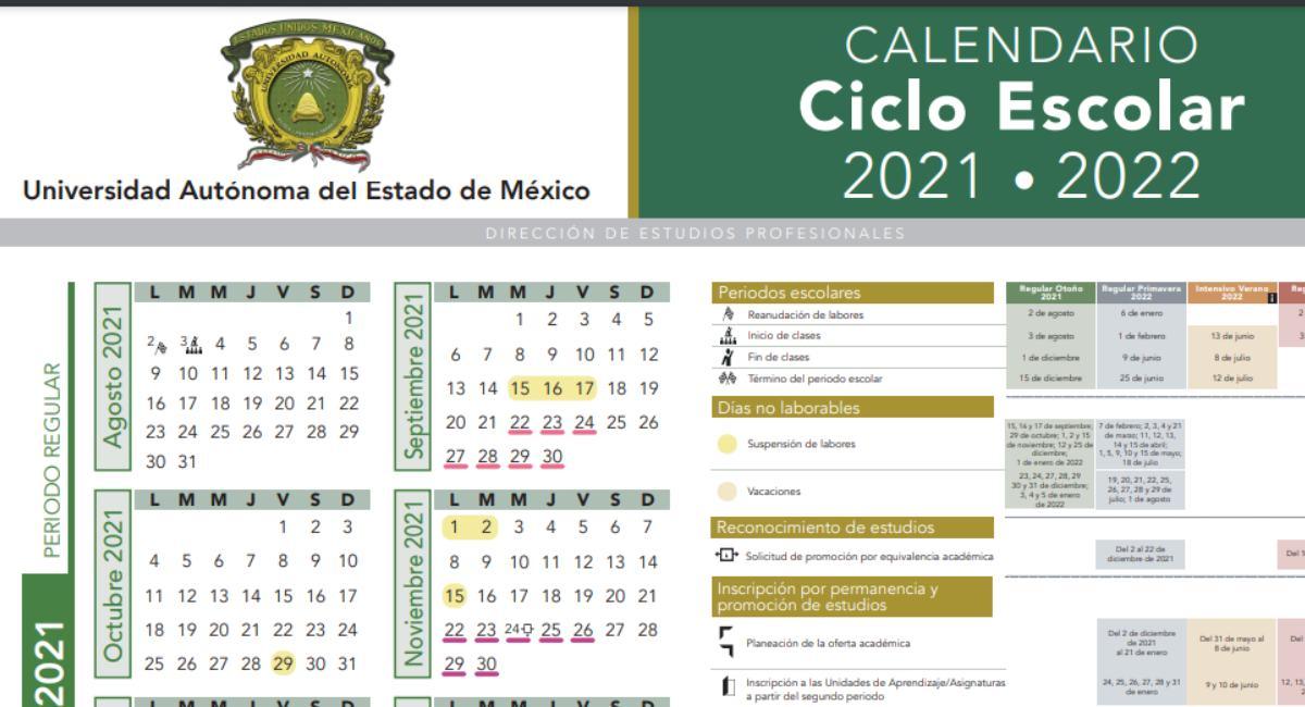 Calendario escolar 2021-2022 UAEMex: Consulta las fechas más importantes