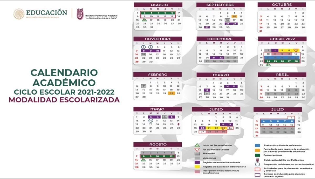 Conoce las fechas más importantes del Calendario IPN 2021-2022