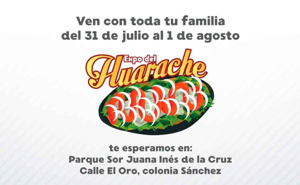 Invitación a la Feria del Huarache en Toluca.