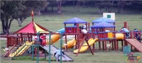 juegos infantiles en parque sierra Morelos en el Edomex