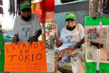 Tokio 2020: Abuelito muestra su apoyo incondicional a su nieto quien participa en los JJ.OO