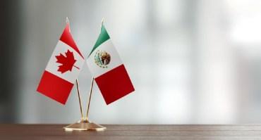 Bandera de México y Canadá