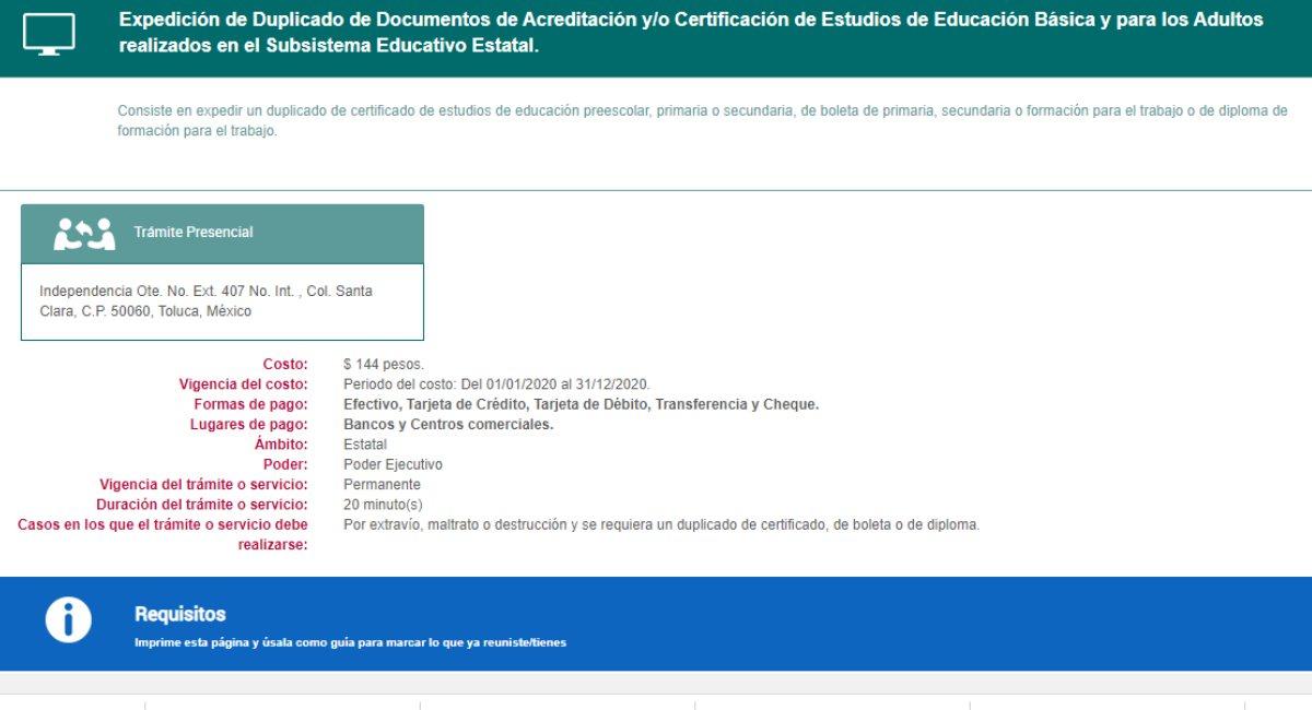 Así puedes obtener una reposición de tu certificado de secundaria en el EdoMéx 2021