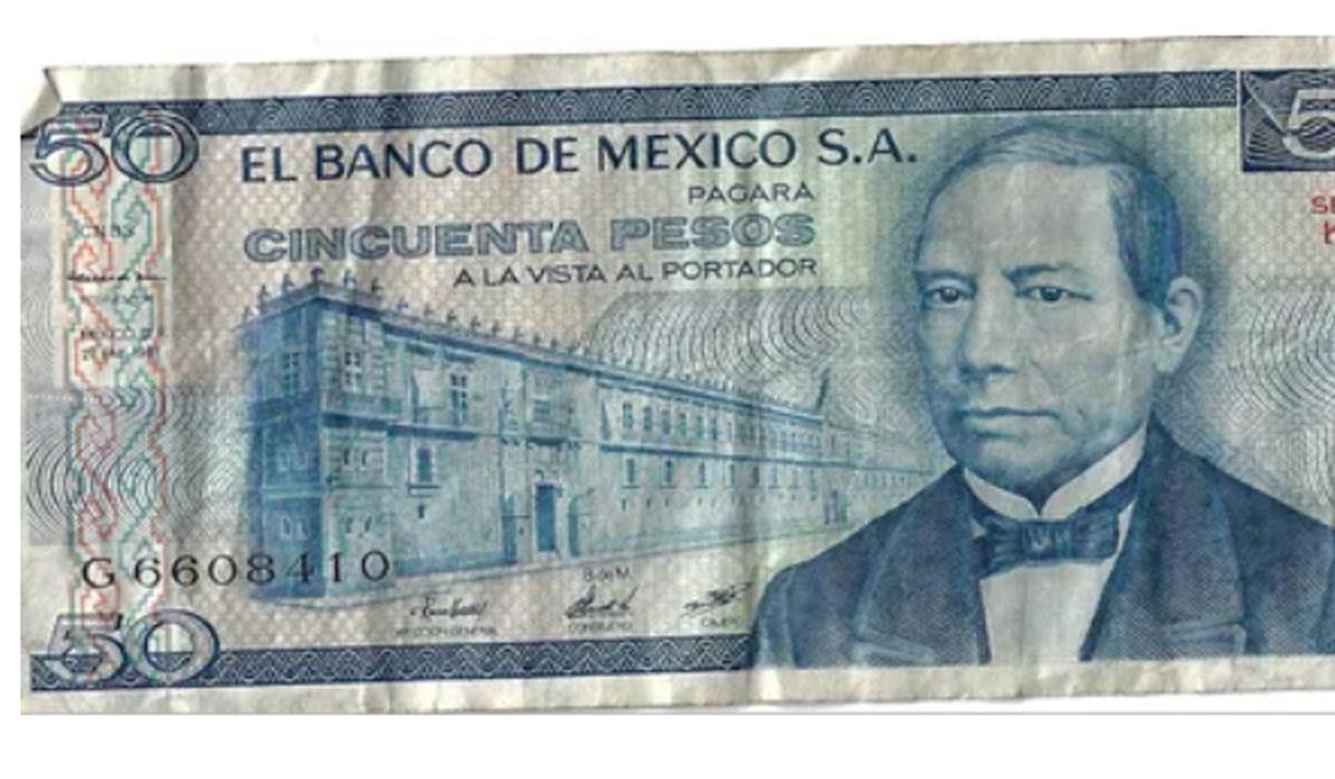 ¿Tienes este billete de a 50?, pues puede llegar a valer hasta 55 mil pesos
