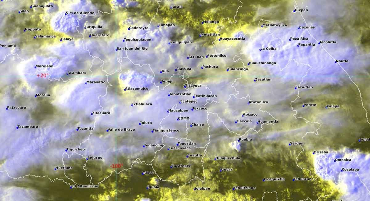 Clima Toluca tendrá altas consideraciones de precipitaciones con granizadas y descargas eléctricas